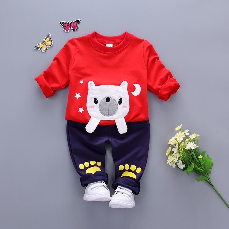 0宝宝春装3婴儿棉衣服4卫衣5男6女7套装8春秋季棉衣9-12个月1岁半
