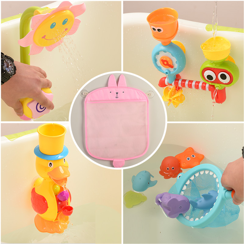 Vibrating baby bathroom baby bath toys children\'s toiletries mesh ...