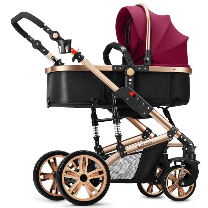 赛利迪SLD婴儿推车高景观宝宝可坐可躺轻便折叠避震双向四轮手童[优惠价80元卖出215件]