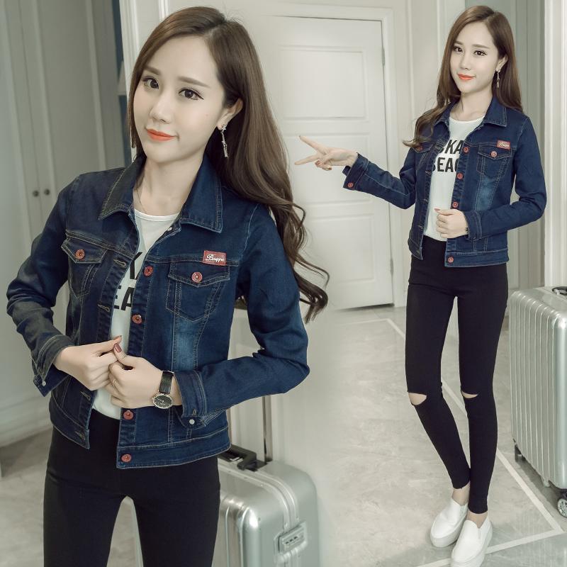 Denim jacket short female 2017 autumn new Korean version of the thin denim jacket tide BF student Slim jacket