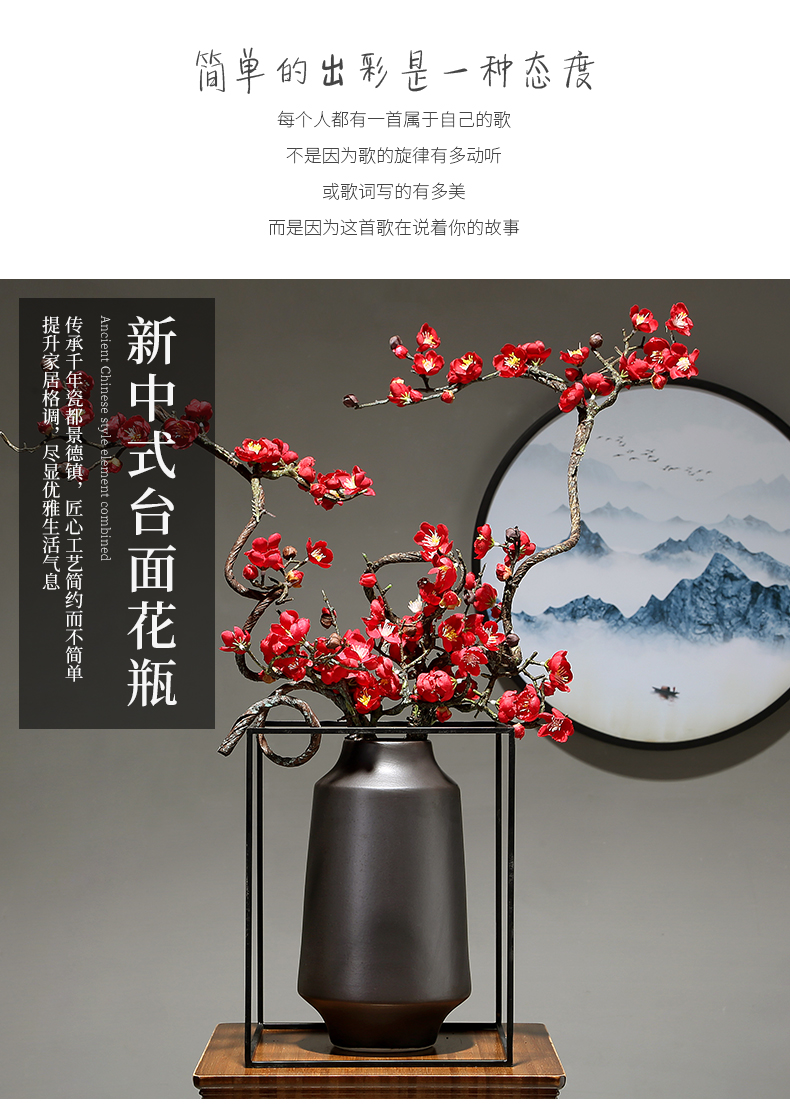 Porcelain ceramic vase household contracted sitting room creative table simulation study porch dry flower arranging flowers decorative furnishing articles