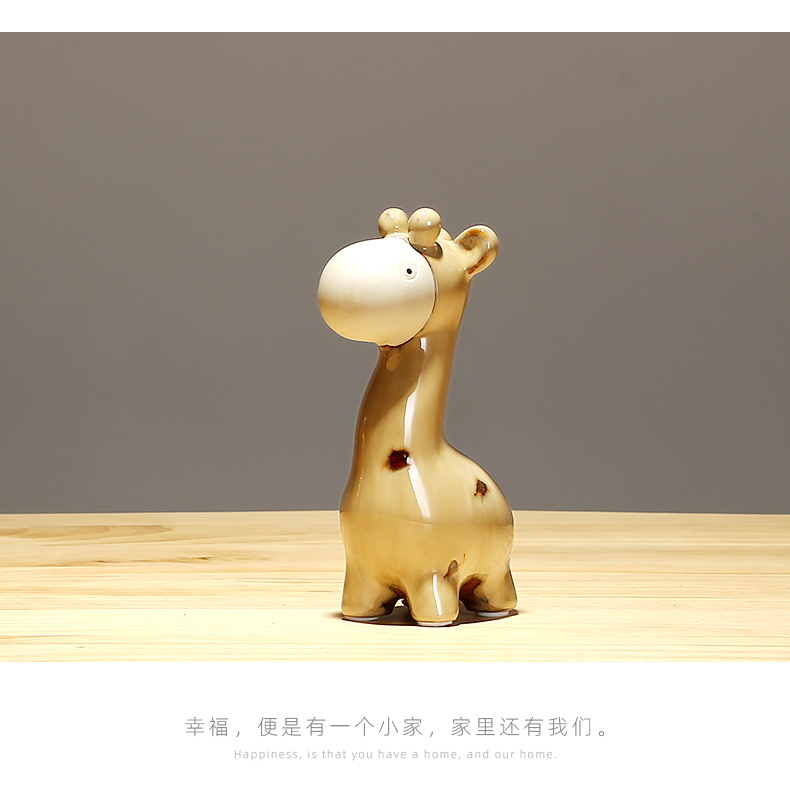 I and contracted jingdezhen ceramics creative express animals decorated living room a study office desktop small place