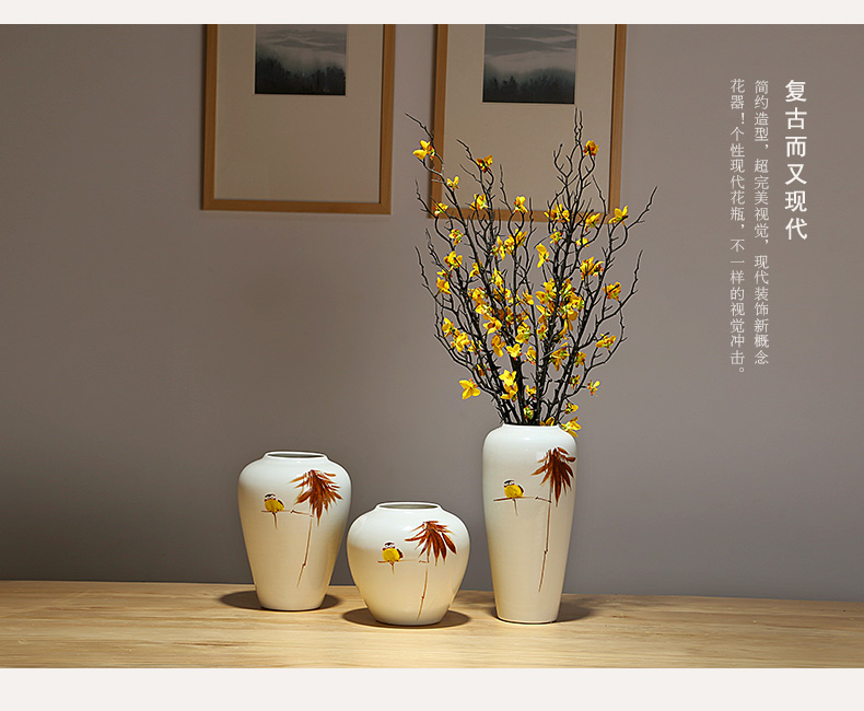 Jingdezhen ceramics vases, new Chinese style decorations furnishing articles sitting room porch dried flowers flower arrangement home outfit