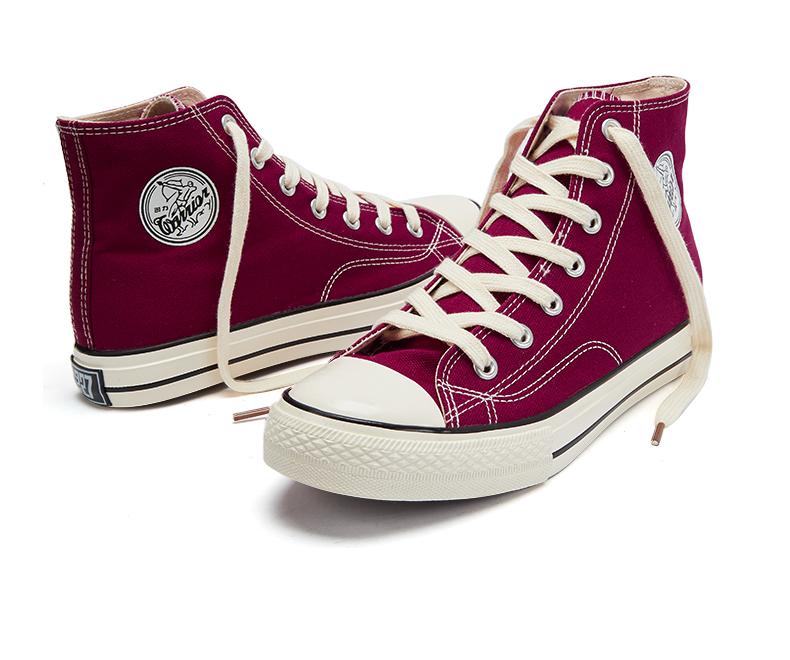 回力男鞋高筒帆布鞋年春季新款復古透气情侣款雾霾蓝黑色板鞋详细照片