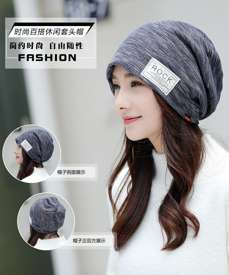 966cb0f99eebd Specifications of Hat Female Autumn And Winter Korean Style Turban Thin  Pregnant Women Confinement Cap Chemotherapy Cap Bald Knitted Toque Beanie