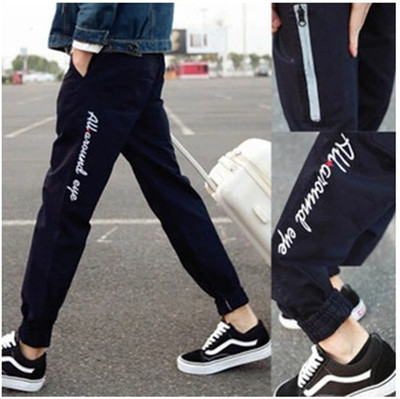 Autumn youth pants 9 points casual pants boys sports nine points Harlan pants students stovepipe men's tide