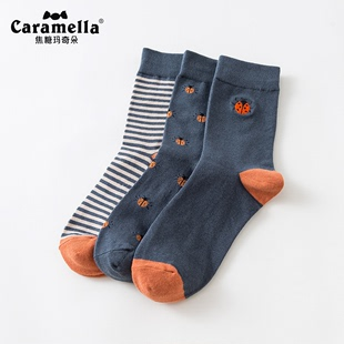 CARAMELLA袜子男士秋冬全棉袜