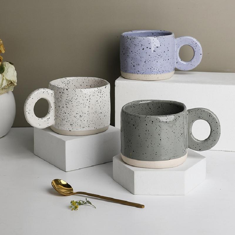 tinyhome日式马克杯创意复古咖啡杯早餐杯ins风水杯小众陶瓷杯子