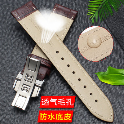 Strap Women Leather Butterfly Buckle Leather Strap Watch Replacement Casio Longines Tissot dw Mido Strap Men