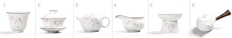 一品仟堂 茶壶定窑脂白茶具陶瓷单壶功夫茶具套装过滤普洱泡茶器