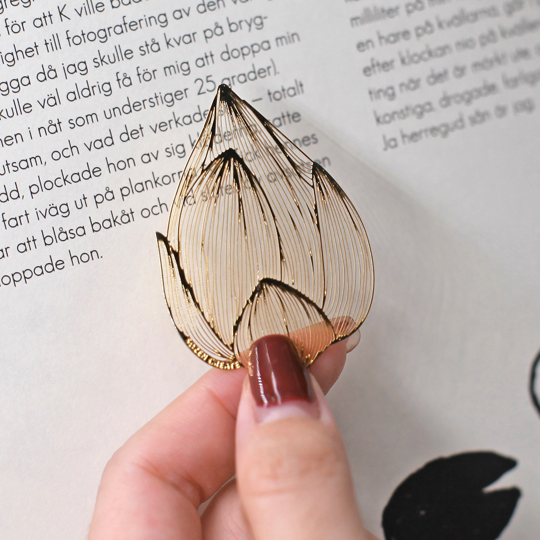 Hand heart wind-load metal bookmark classical Chinese style creative  literary and artistic ancient wind gift custom hollow students with