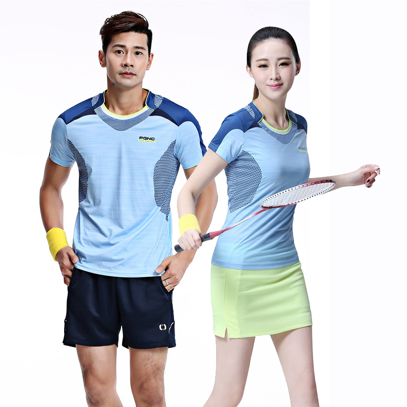 71e1c2de0 New badminton clothing single shirt men and women short-sleeved sports  tennis clothing breathable quick. Zoom · lightbox moreview · lightbox  moreview ...