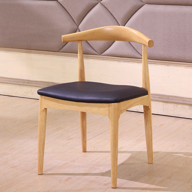 Nordic Solid Wood Dining Chair Horn Chair Cafe Chair Lounge Chair For  Creative Dining Table And
