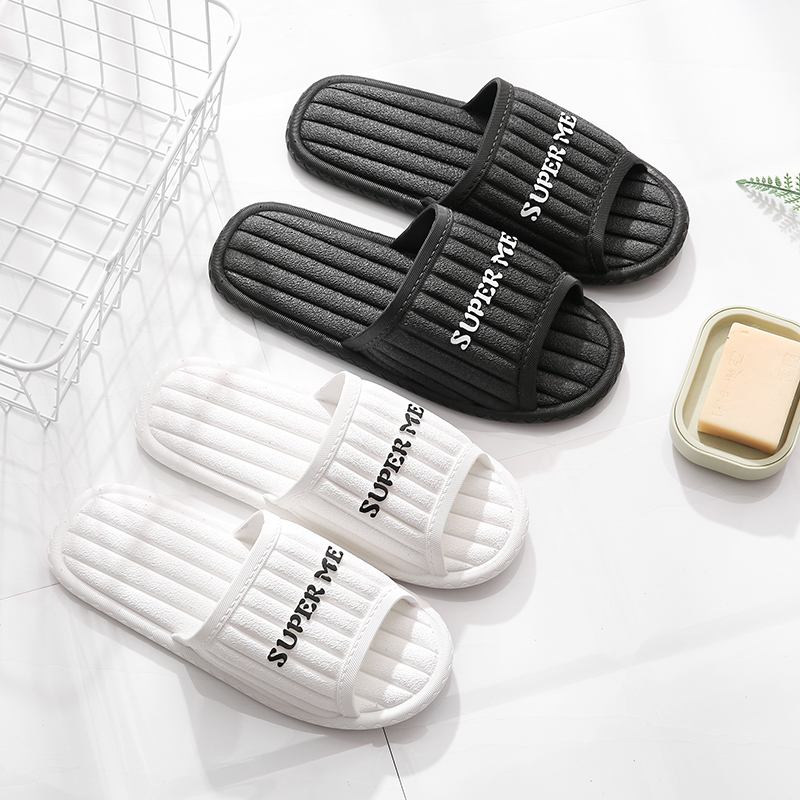 Slippers female summer home home bathroom non-slip bath indoor fashion Korean wear thick bottom couple cool slippers male