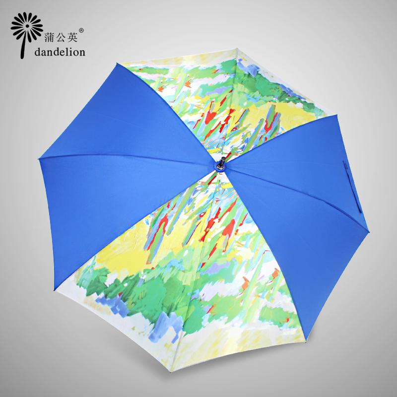 外贸新创意复古油画创意8骨防风结实三折叠全自动男女情侣晴雨伞
