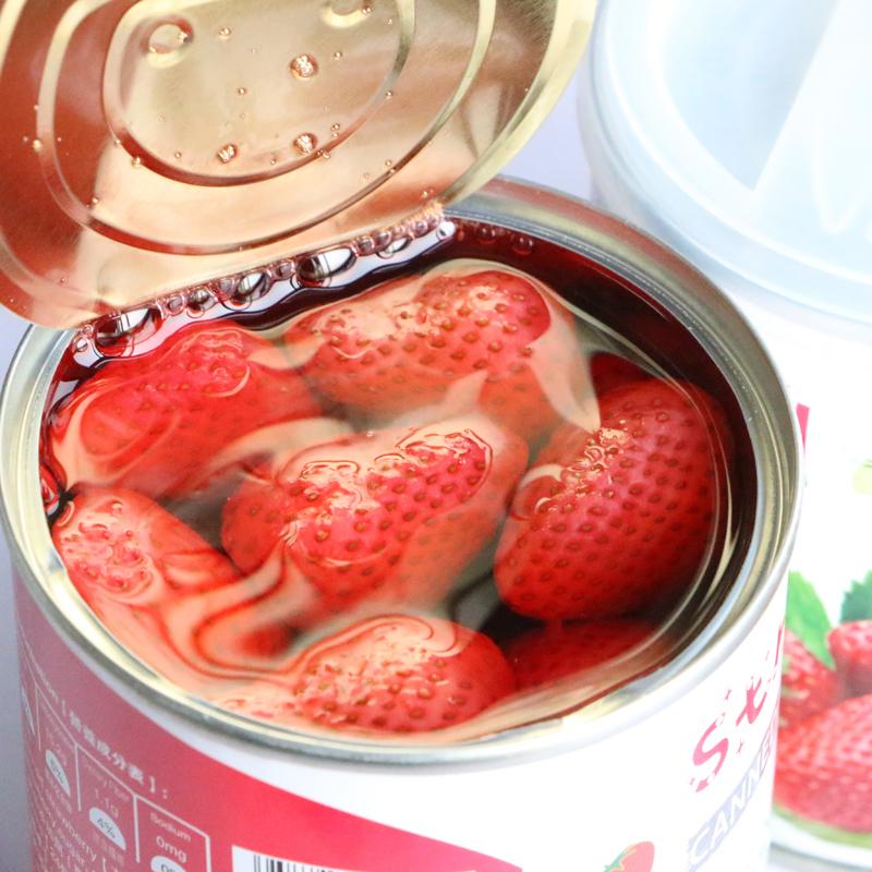 新低!大個頭、零防腐劑:312g*6罐 天同果小懶 新鮮草莓罐頭