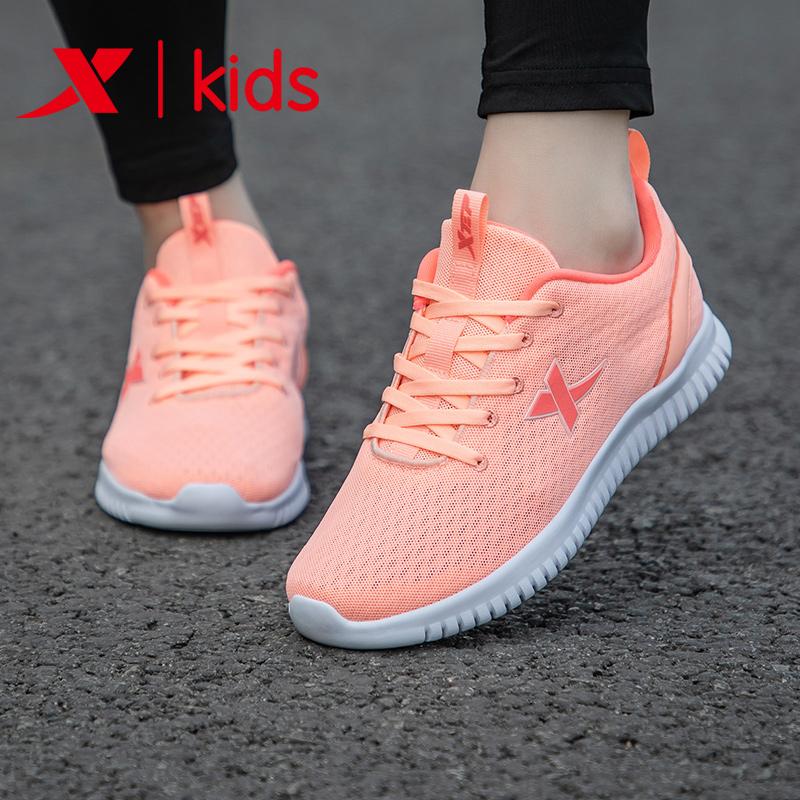 Giày trẻ em Xtep / Xtep Xtep 2019 mùa hè mới dành cho trẻ em Giày lưới trẻ em lớn thoáng khí giày thể thao nữ - Giày dép trẻ em / Giầy trẻ