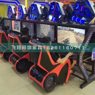 Feixiang Internet cafes gaming tables and chairs integrated Internet cafes rear chassis desktop single computer table sofa combination can be customized