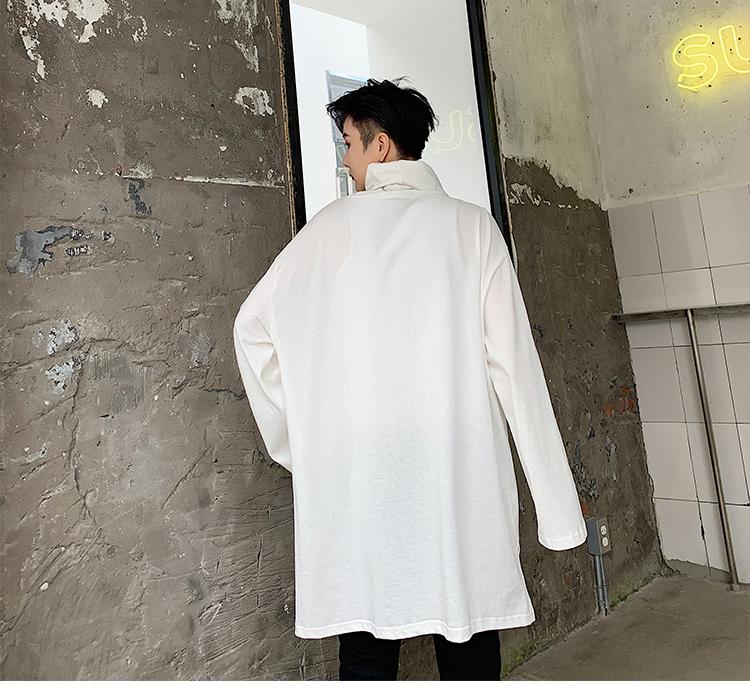 暗黑日系打底衫高领宽松套头潮流长袖T恤T892 P50(不低于60)