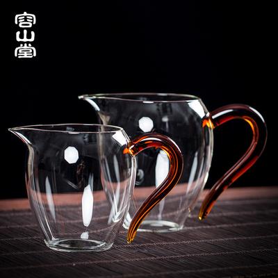 容山堂禾器玻璃公道杯耐热加厚茶滤一体分茶器陶瓷个人专用茶具品