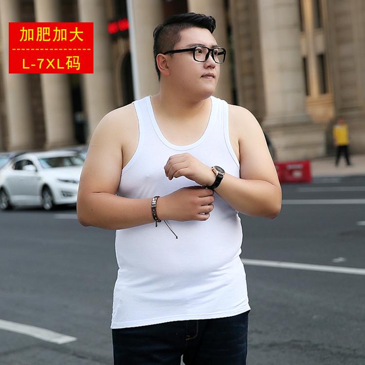 大码背心男200斤加肥加大码特大号夏季宽松胖子打底汗衫莫代尔棉