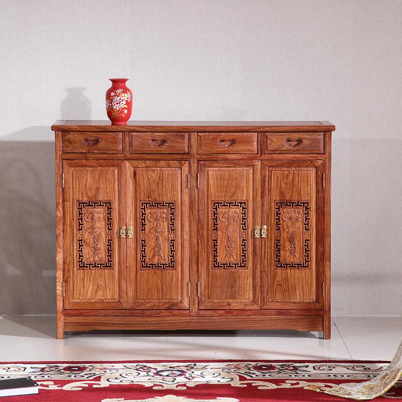 红木鞋柜中式仿古花梨刺猬实木门厅家具对开门紫檀玄关鞋架储物柜