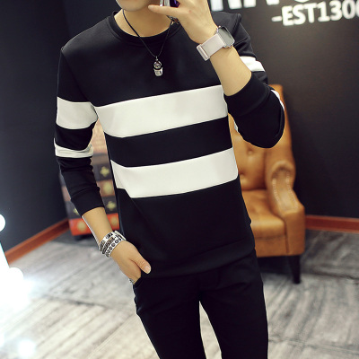 New cotton shipping 9.9 yuan nine nine men round tide Slim tide Korean version of the T-shirt long-sleeved 9 special 10 yuan