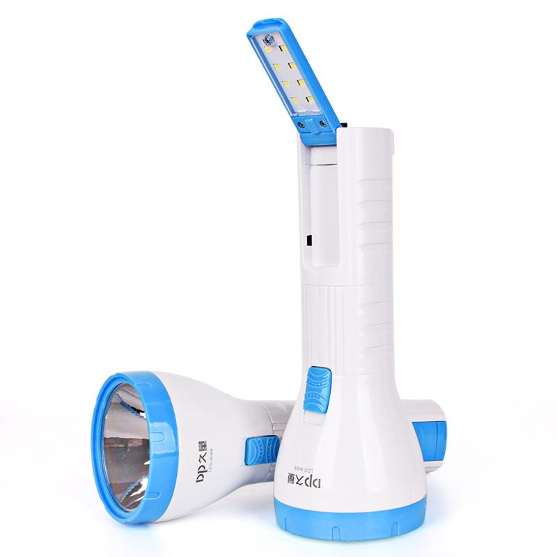 久量可充電強光LED小手電筒戶外遠射超亮多功能迷你家用手燈應急