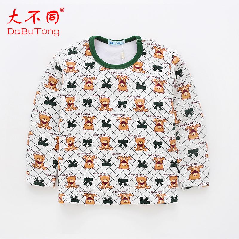 儿童打底衫加绒加厚保暖上衣长袖男童女童秋冬季童装T恤