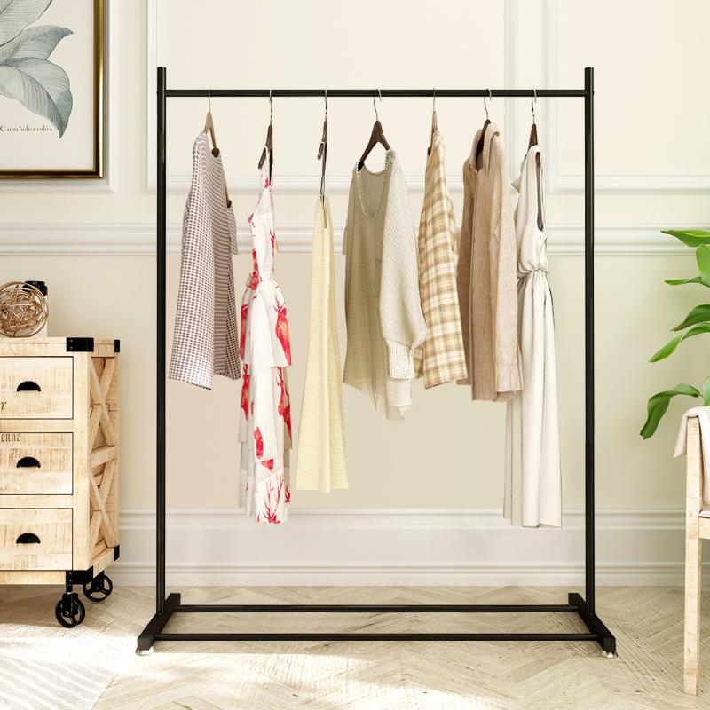Bedroom Floor Hangers Single Rod Indoor Clothes Rod Korean Folding Clothes  Rack Multi Functional Simple