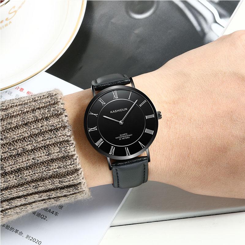 正品卡诗顿新款手表 男士石英表 时尚男表潮流皮带超薄学生腕表