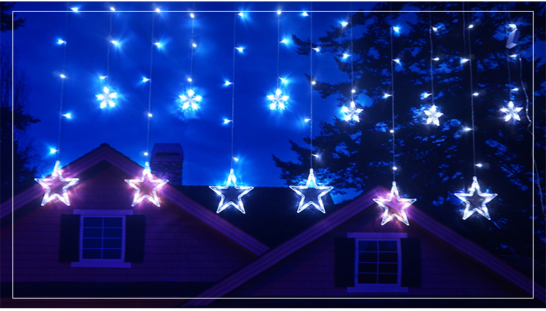 Specifications Of Curtain Room Decorated Hanging Light Christmas Day Pentagon Starlight Led LanternWarm White