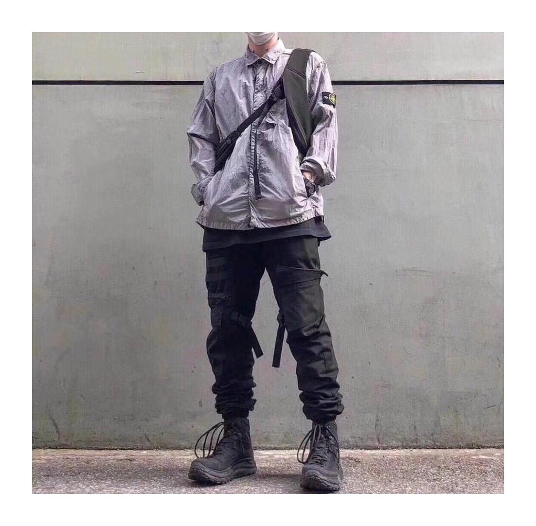 POISON V STONE ISLAND 石头岛 金属尼龙外套 衬衫 夹克 DEAN同款
