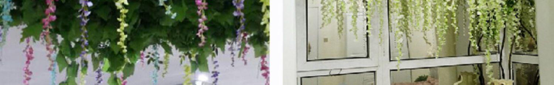 仿真紫藤花豆花串紫罗兰塑料绢花装饰藤蔓植物悬吊式天花板花婚庆假花藤条详细照片