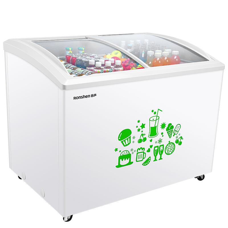 Ronshen Sd 303hh Commercial Freezer Frozen Transparent Glass