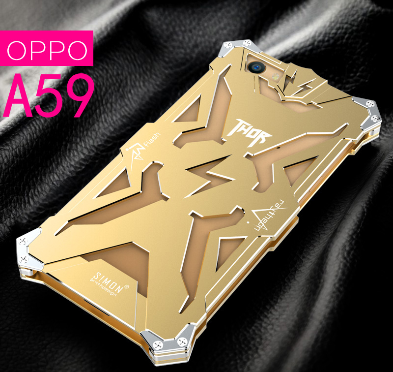 SIMON THOR Aviation Aluminum Alloy Shockproof Armor Metal Case Cover for OPPO OPPO A59s | OPPO A59