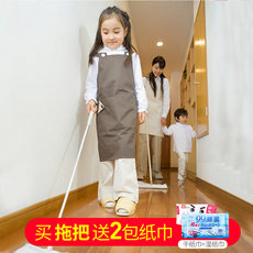 Japan LEC flat electrostatic dust mop paper disposable wooden floor flat mop labor-saving rotary wet and dry paper towel to send