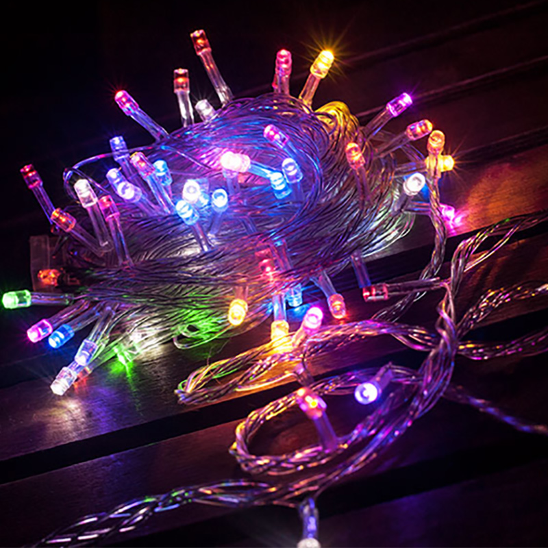 led christmas lights with outdoor waterproof around the tree lights hanging tree holiday decoration colorful gypsophila