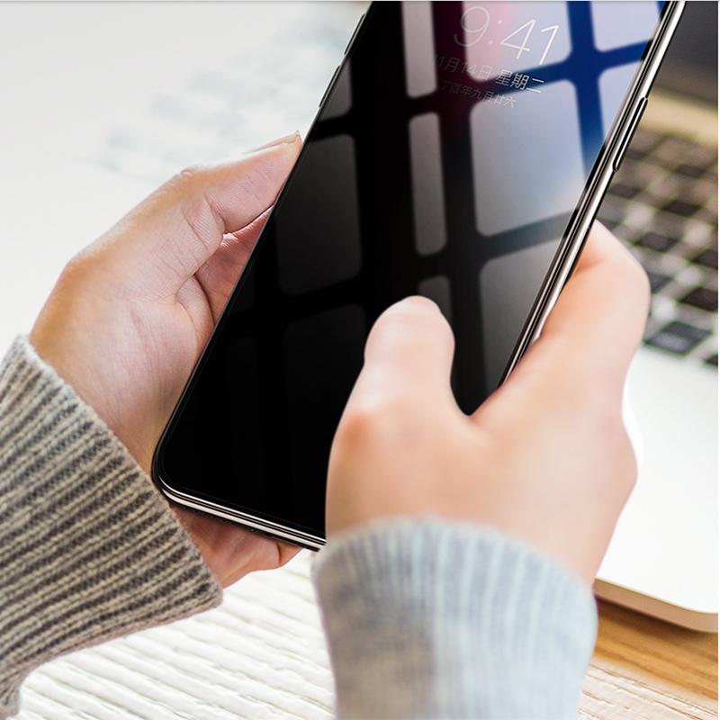 苹果x钢化膜iPhoneXR防窥手机膜7plus全覆盖8p防偷看膜xsmax防隐私防摔xs防透窥iphoneX玻璃7偷窃