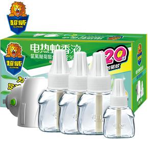超威电蚊香液雨后薄荷4瓶+1器套装