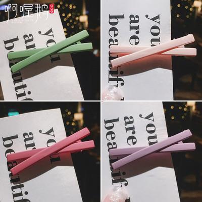 网红ins少女彩色韩国小发夹卡子泫雅同款夹子边夹头饰发卡后脑勺