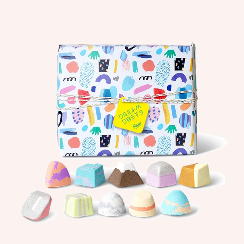 【七夕礼物】Rever乐若转转浴爆 巧克力礼盒精油泡脚球足浴包10颗