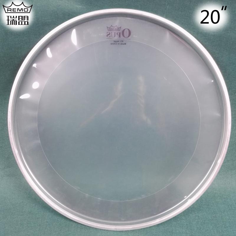 Подлинный remo швейцарский альянс барабан кожа 20 дюймовый сингл через ремень наводнение звук круг ребенок полка барабан земля барабан ступня барабан кобура наряд