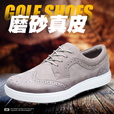 New XFC golf shoes men's leather waterproof casual sports shoes light wear-resistant non-spinel soft bottom