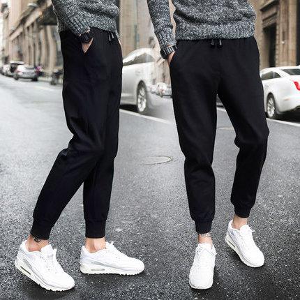30-40元以下男裤春夏季个性气质运动细绳长裤子便宜潮流韩版 修身