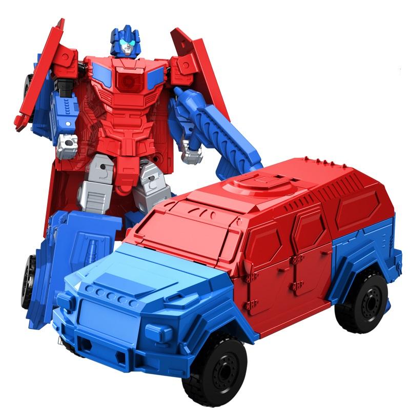 机变英盟变形汽车玩具金刚益智百变合体套装小男孩工程警车机器人