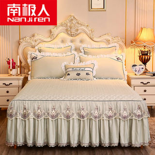 Antarctic Tencel Modal embroidered bed skirt Simmons bedspread bed skirt bed cover single non-slip mattress bed sheet