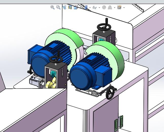 管材(钢管)自动抛光机3D图纸 K90 非标自动化设备3D图纸3D模型