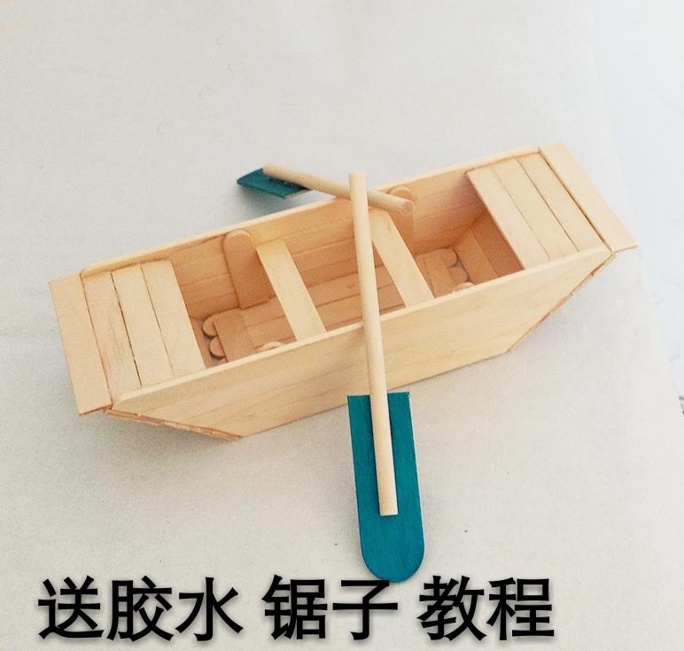ice cream stick boat cottage house building model diy