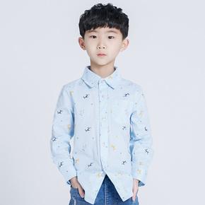 灵机一动男童纯棉衬衫
